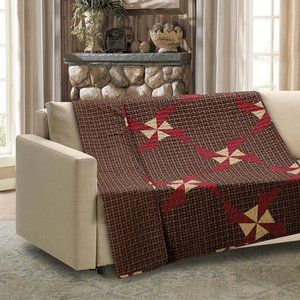 In the Country Quilted Throw